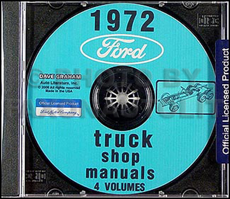 1972 Ford Truck Repair Shop Manuals on CD for Pickup, Bronco, Van, big trucks