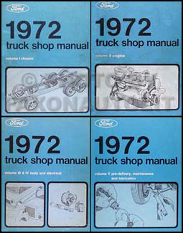 1972 Ford Truck Repair Manual 5 Volume Set Original