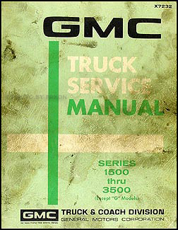 1972 GMC 1500-3500 Repair Shop Manual Original Pickup, Jimmy, Suburban, FC