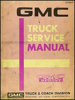 1971-1972 GMC Sprint Shop Manual Original