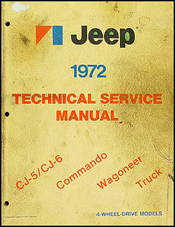 1972 Jeep Shop Manual Original - All models