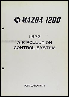 1972 Mazda 1200 Air Pollution Control System Original