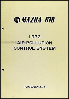 1972 Mazda 618 Air Pollution Control System Manual Original