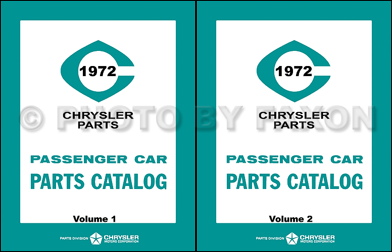 1972 MoPar Parts Book Reprint 2 Volume Set