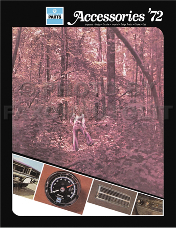 1972 MoPar Accessories Parts Book Reprint