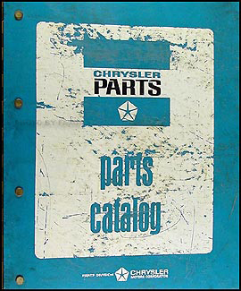 1972 Dodge, Plymouth, Chrysler Car Parts Book Original Binder