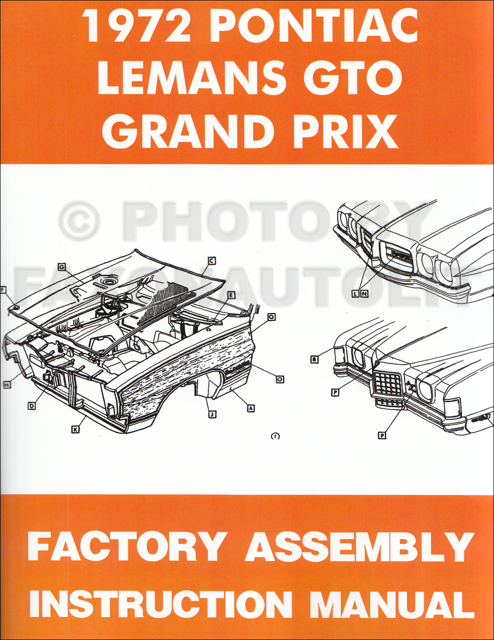 1972 Pontiac LeMans, GTO, and Grand Prix Assembly Manual Reprint