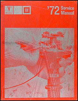 1972 Pontiac Shop Manual Original All Models