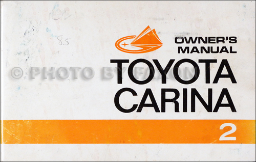1972 Toyota Carina Owner's Manual Original