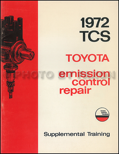 1972 Toyota TCS Emission Control Training Manual Original