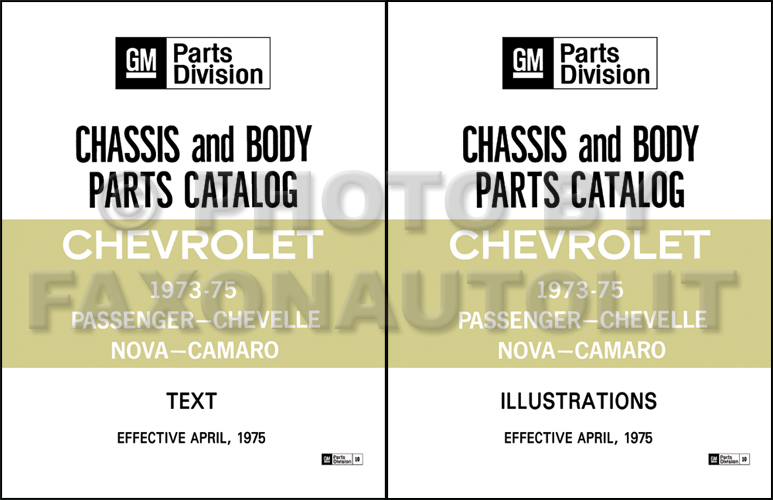 1973-1975 Chevrolet Car Master Parts Catalog Reprint