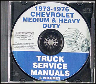 CD 1973-1976 Chevrolet Medium and Heavy Duty Truck Service Manual