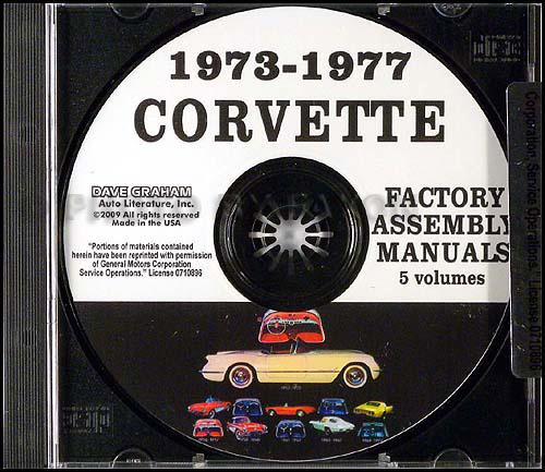 1973-1977 Chevrolet Corvette Assembly Manual on CD-ROM