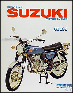 1973-1977 Suzuki GT185 Motorcycle Shop Manual Cycleserv