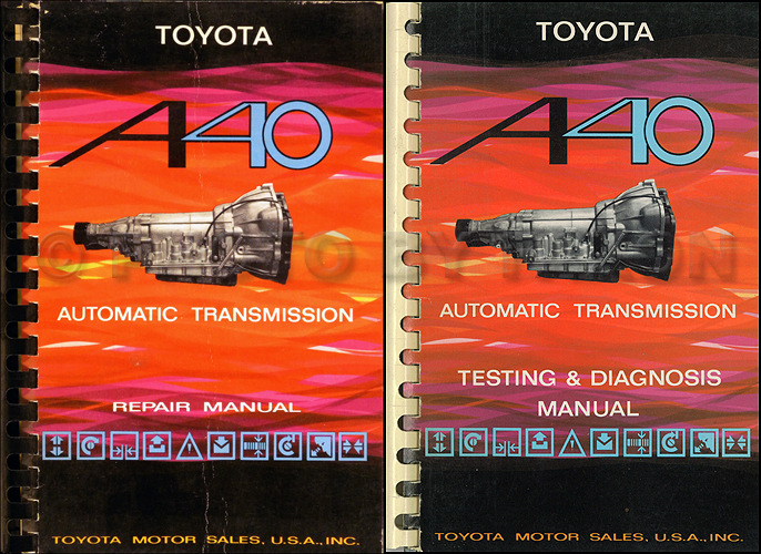1973-1980 Toyota A40 Automatic Transmission Repair Manual Set Original