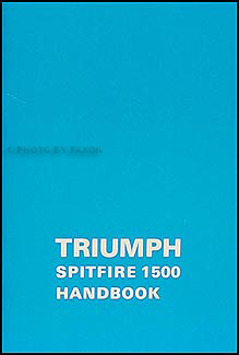 1973-1980 Triumph Spitfire 1500 Owner's Manual Reprint