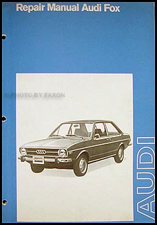 1973 Audi Fox Repair Manual Original