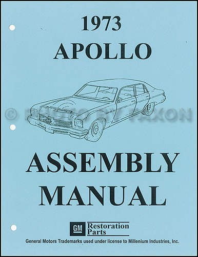 1973 Buick Apollo Factory Assembly Manual Reprint