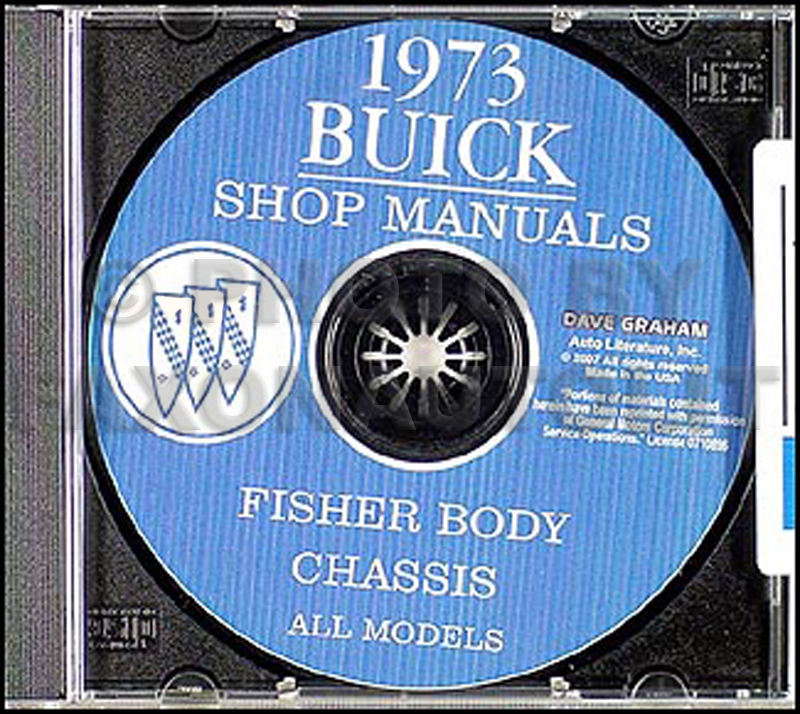 1973 Buick Shop Manual CD-ROM - All Models