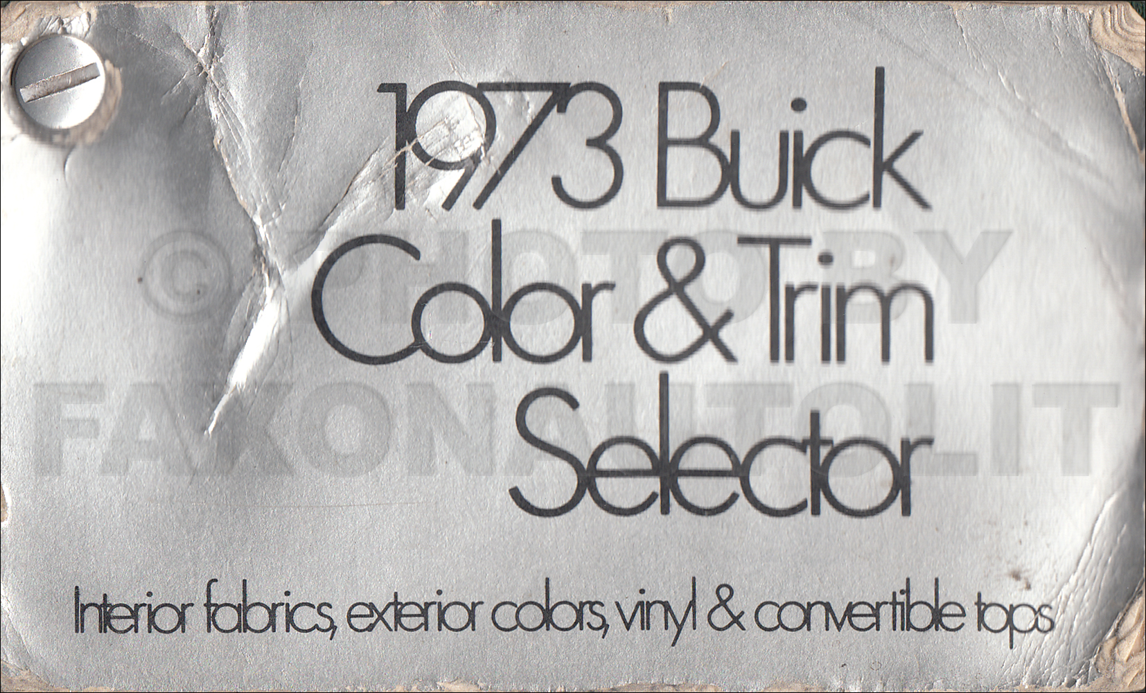 1973 Buick Color and Upholstery Sample Dealer Album Original