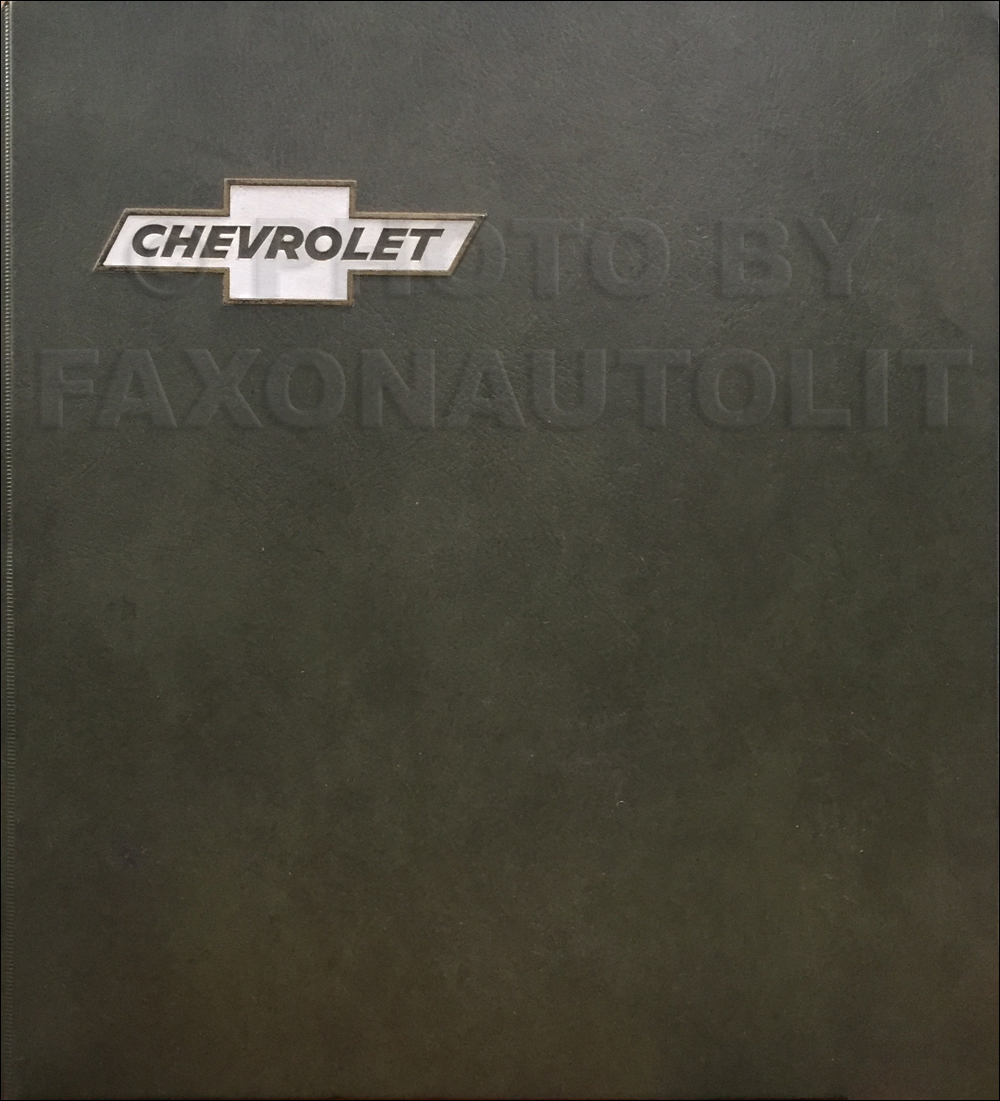 1973 Chevrolet Car Color & Upholstery Dealer Album/Data Book Original