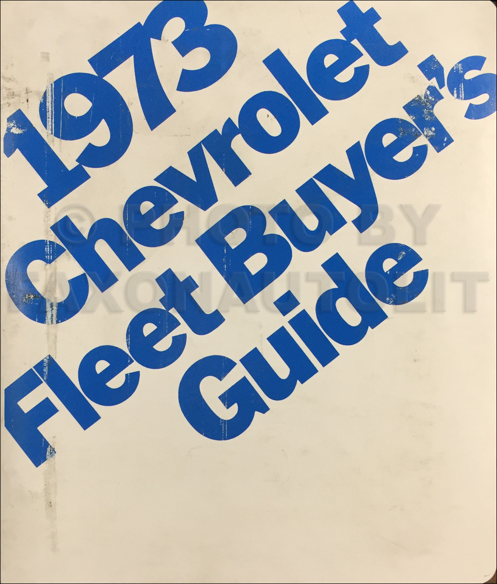 1973 Chevrolet Fleet Buyer's Guide Dealer Album Original