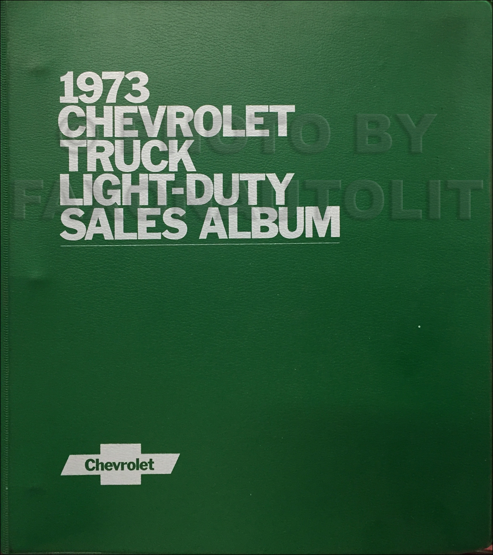 1973 Chevrolet Light Truck Data Book and Color and Upholstery Dealer Album Original