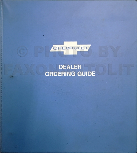 1973 Chevrolet Ordering Guide Dealer Album Original