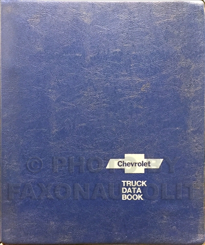 1973 Chevrolet Truck Data Book Dealer Album Original Light, Medium, and Heavy Trucks