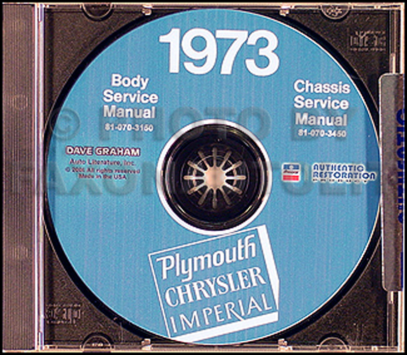1973 Plymouth & Chrysler CD Shop Manual All Models