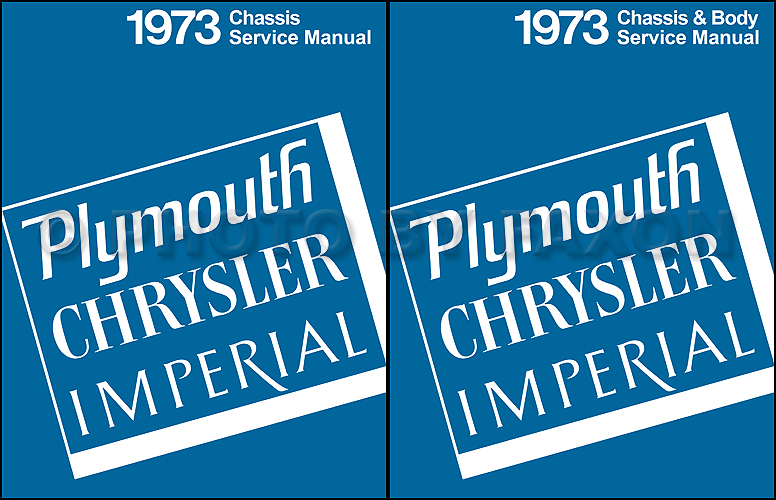 1973 Plymouth and Chrysler Repair Shop Manual Reprint 2 Volume Set