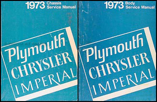 1973 Plymouth and Chrysler Original Service Manual Set