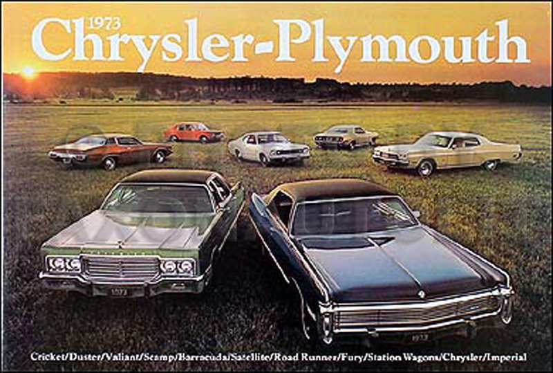 1973 Chrysler & Plymouth Original Sales Brochure -- All Models
