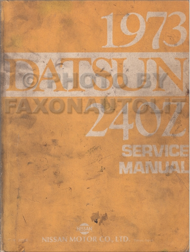 1981 Datsun 280ZX  Repair Manual Original