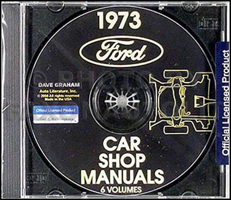 1973 Ford, Lincoln, Mercury Shop Manuals on CD-ROM