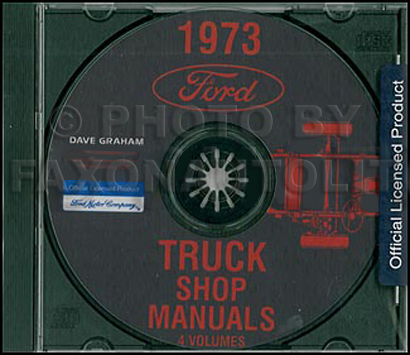 1973 Ford Truck Repair Shop Manual CD for Pickup, Bronco, Van, larger trucks