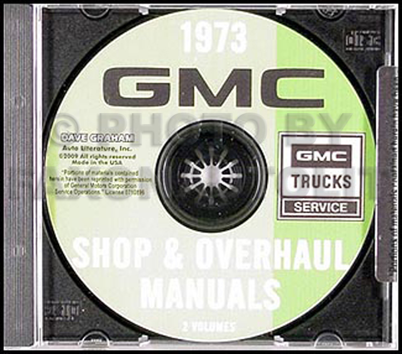 CD-ROM 1973 GMC Truck Repair and Overhaul  Manuals