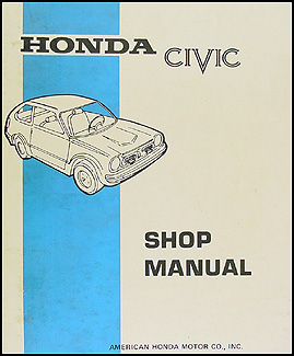 1973 Honda Civic Repair Manual Original