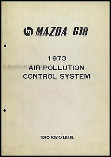 1973 Mazda 618 Air Pollution Control System Manual Original