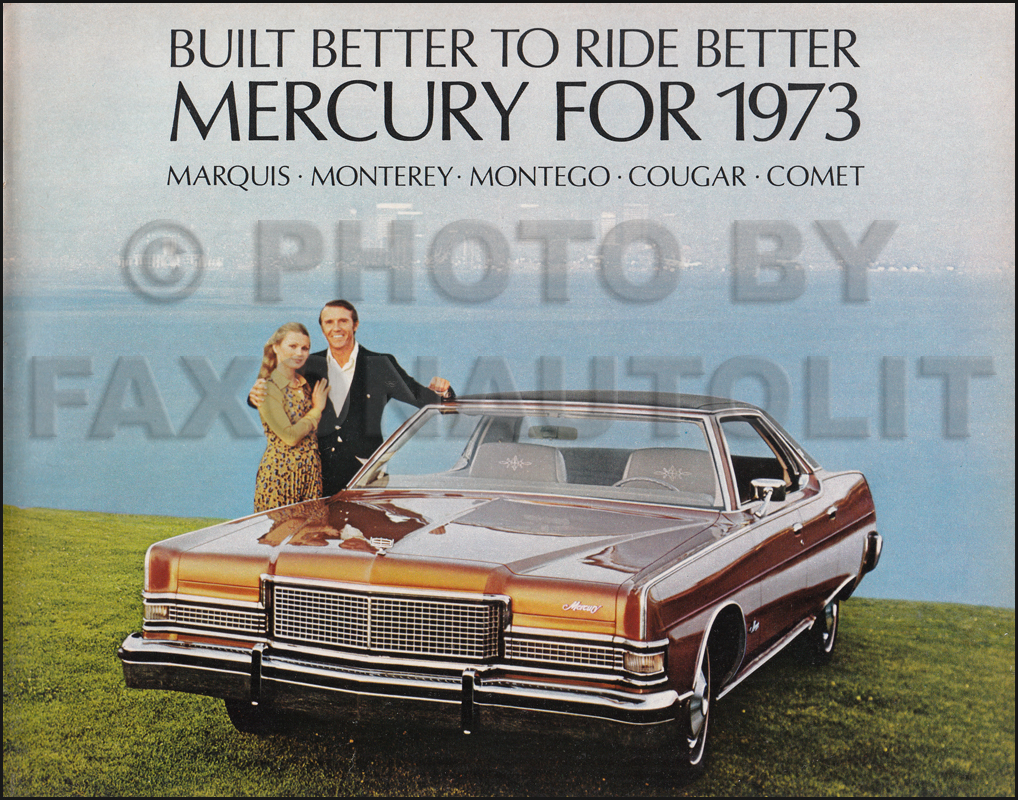 1973 Mercury Sales Catalog Original -- All Models