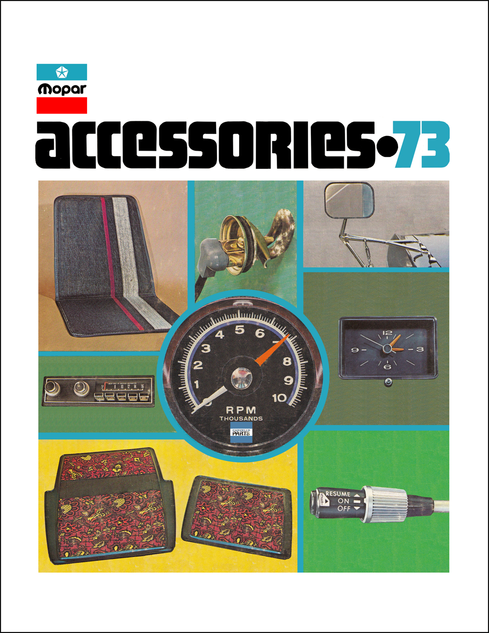 1973 MoPar Accessories Parts Book Reprint