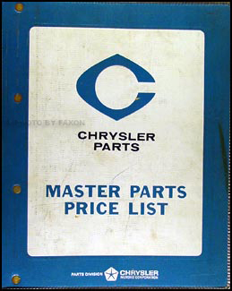 1973 Dodge, Plymouth, Chrysler Car Parts Book Original Binder