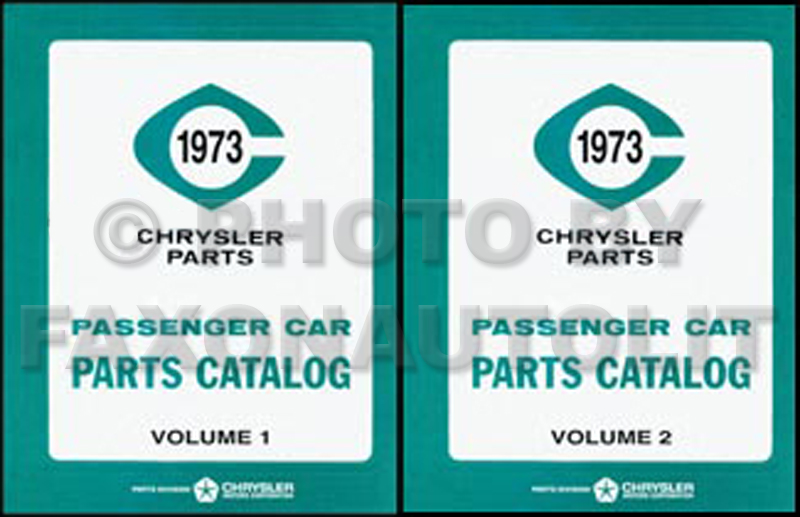 1973 MoPar Parts Book Reprint 2 Volume Set