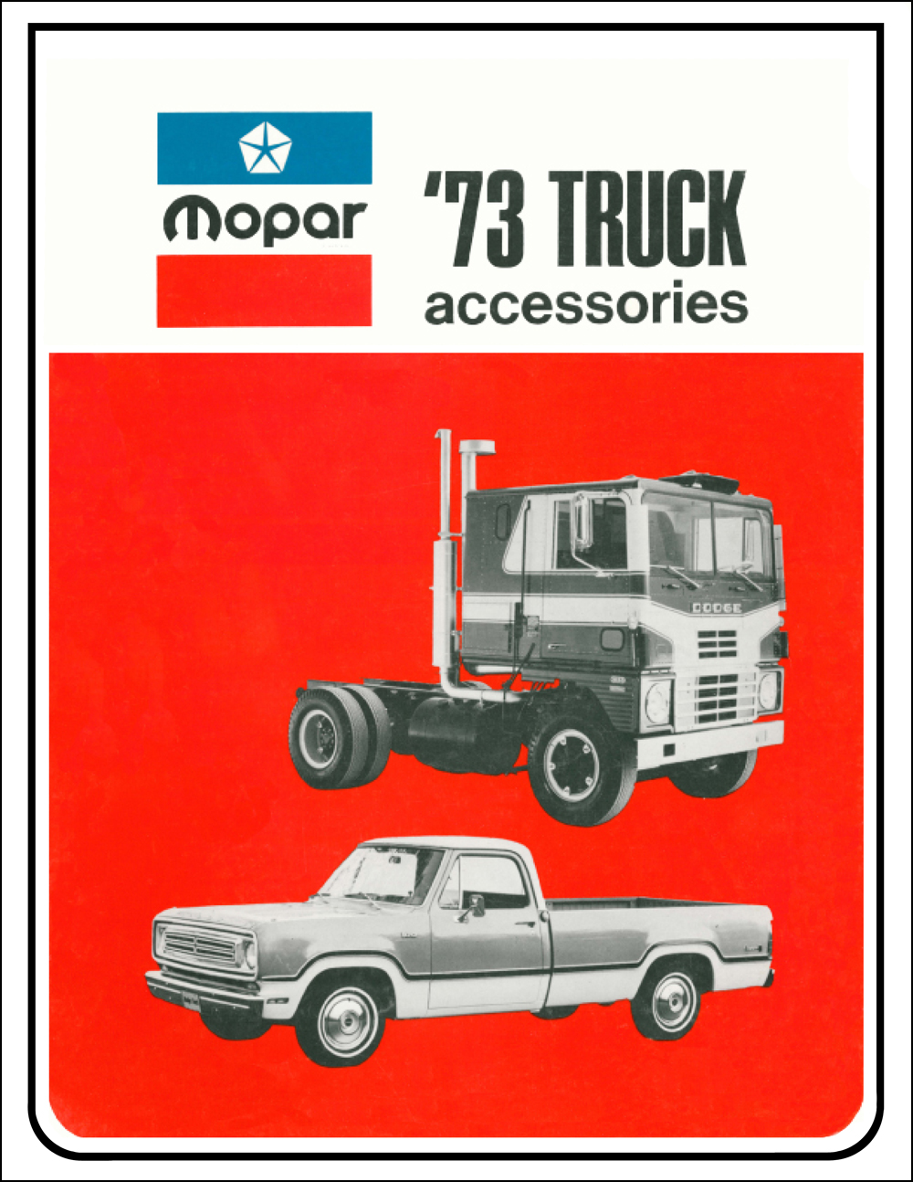 1973 Dodge Truck and Van Accesories Parts Book Reprint