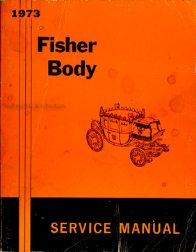 1973 Pontiac Body Repair Shop Manual Original