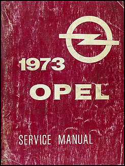 1973 Opel GT & 1900 Repair Manual Original