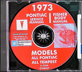 1973 Pontiac CD-ROM Shop Manual  & Body Manual -- All Models