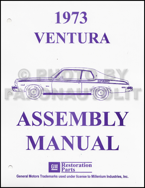 1973 Pontiac Ventura Assembly Manual Reprint
