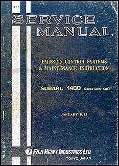 1973 Subaru Emissions & Maintenance Manual Original