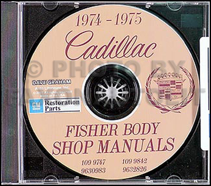 1974-1975 Cadillac CD-ROM Shop Manual & Body Manual